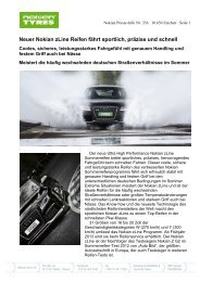 Neuer Nokian zLine Reifen fährt sportlich, präzise ... - Nokian Tyres