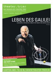 Theatermagazin - Theater Trier