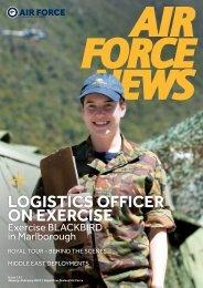 Logistics officer on exercise