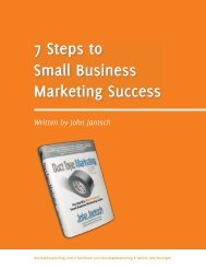 7 Steps to Small Business Marketing Success