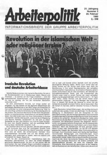 Imnische Revolution und deutsche Arbeiterldasse - der Gruppe ...