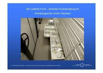 Der codierte Fund – Zentrale Fundverwaltung im 'Archäologischen ...