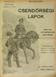 CSENOÓRSÉGI - Magyar Királyi Csendőrség
