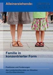 Familie in konzentrierter Form - Landesfamilienrat Baden-Württemberg