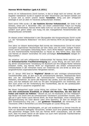 Hannes Wirth-Nebiker - Arbeitsgemeinschaft Schweizer ...