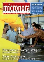 Fabrication et pilotage intelligent Cetim Techniquote - Micronora