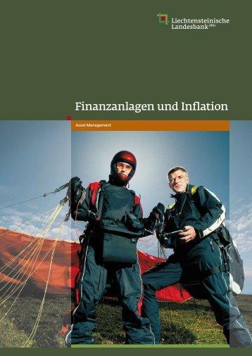 Finanzanlagen und Inflation - Liechtensteinische Landesbank