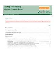Strategiecontrolling Muster-Pensionskasse - c-alm