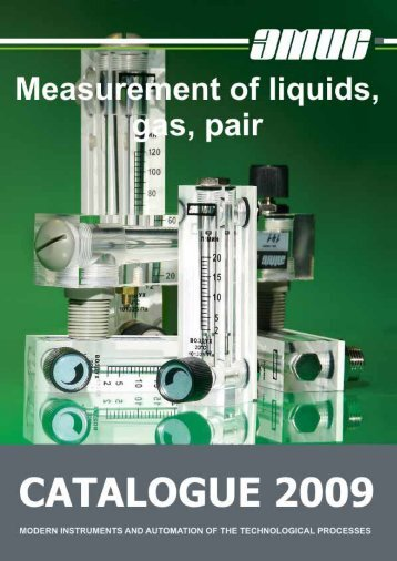 Catalogue production company EMIS. Measurement of liquids, gas ...