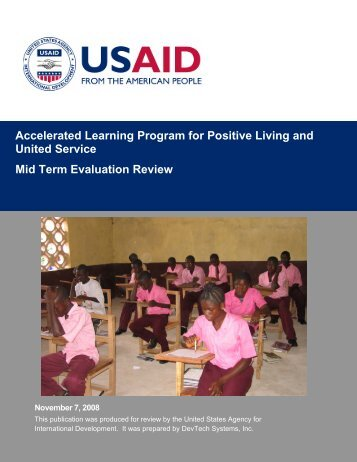 Accelerated Learning Program for Positive Living and United ...