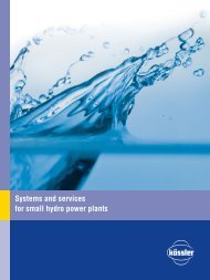 Systems and services for small hydro power plants - Kössler