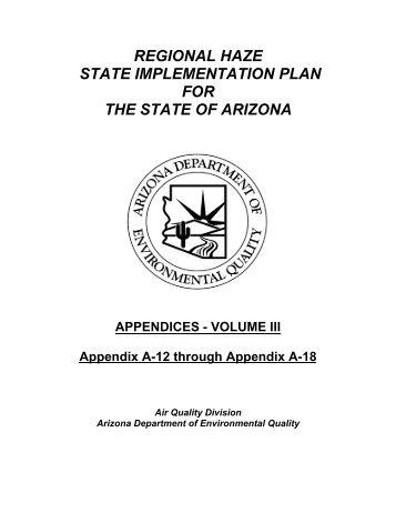 Appendix Volume III - Arizona Department of Environmental Quality
