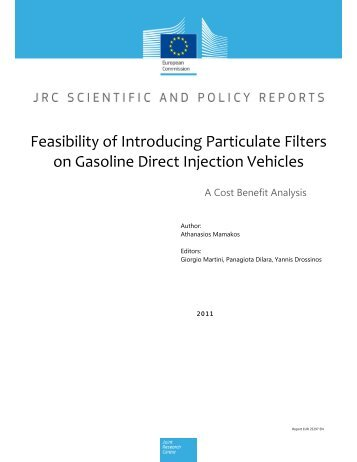 Feasibility of Introducing Particulate Filters on Gasoline Direct - JRC ...