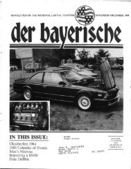IN THIS ISSUE: - der Bayerische