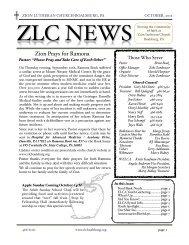 ZLC Newsletter 10:2012 - Zion Lutheran Church, Boalsburg PA