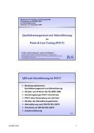 Qualitätsmanagement und Akkreditierung Point-of-Care Testing ...