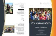 Capital Appeal Brochure - Zion Lutheran Church