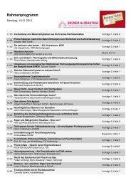 Programm Samstag, 19.01.2013 - hanseBAU