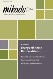 Energieeffiziente Holzbaudetails - Mikado