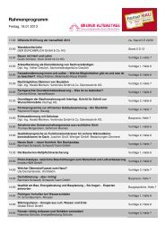 Programm Freitag, 18.01.2013 - hanseBAU