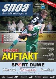 Auftakt 2012/2013 - SNOA - das fußballportal