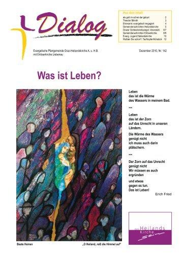 Was ist Leben? - Evangelische Pfarrgemeinde Graz - Heilandskirche