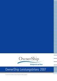 OwnerShip Leistungsbilanz 2007 - Ownership Emissionshaus