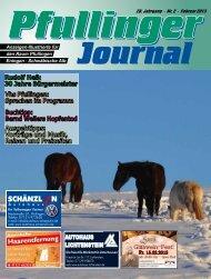 Ausgabe Februar 2013 - beim Pfullinger Journal