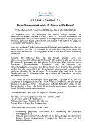 IG Charterschiffe Beluga - Ownership Emissionshaus