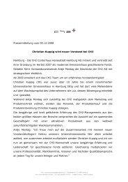 CH2 Pressemitteilung vom 05122008 - Ch2-ag