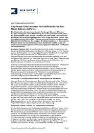 Ship Invest: Emissionshaus für Schiffsfonds aus dem ... - ship invest ag