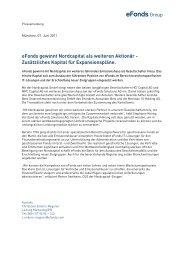 07.06.2011 - eFonds gewinnt Nordcapital als ... - eFonds24.de