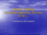 Carbon Trading: It's already happening. The story so far…..