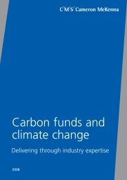 Carbon funds and climate change - CMS Cameron McKenna