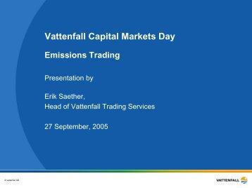 Erik Saether: Carbon dioxide trading (PDF 446 kB - Vattenfall