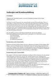 Isolierglas und Kondensatbildung