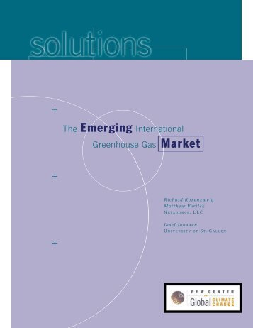 The Emerging International Greenhouse Gas Market - Center for ...