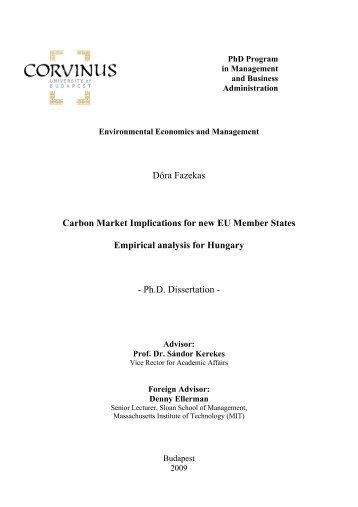 Dóra Fazekas Carbon Market Implications for new EU - UniCredit ...