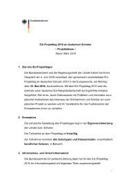 EU-Projekttag 2010 an deutschen Schulen – Projektskizze – Stand ...