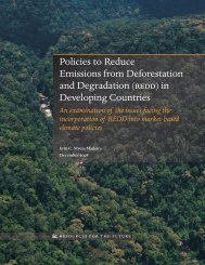 Policies to Reduce Emissions from Deforestation and Degradation ...