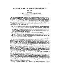 manufacture of asbestos products - BVSDE Desarrollo Sostenible