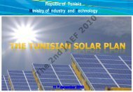 I. TUNISIAN SOLAR PLAN