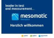 CATV Seminar Mesomatic 2011 Begrüssung - emitec-industrial.ch