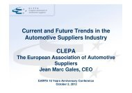 Clepa Earpa 10 Years Anniversary 2 Oct 2012
