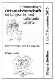 Ortsmeisterschaft - Alztaler Schützen