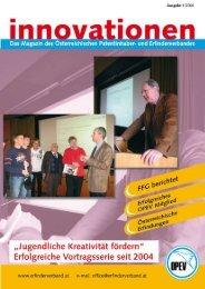 innovationen 1/2006 - Ideen . Neuheiten . Erfindungen . Innovationen
