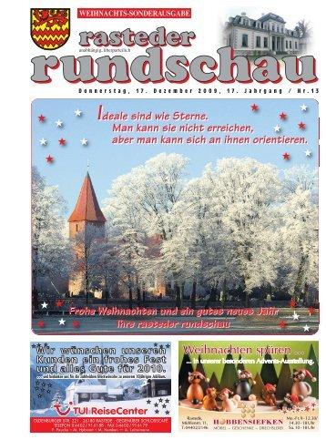 rasteder rundschau, Sonder-Ausgabe Weihnachten 2009