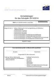 Anmeldebogen für das Schuljahr 2013/2014 - HTL & HTBLA Hallstatt