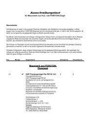 Ausschreibungstexte Ziegelsysteme Stand 01/2011 - HART Keramik