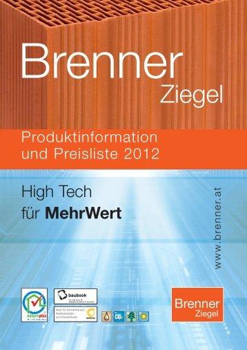 Preisliste 2012.pdf - Ziegelwerk Brenner